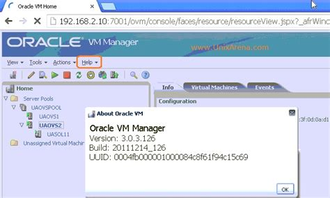 tutorial oracle vm manager how to upgrade oracle vm manager unixarena