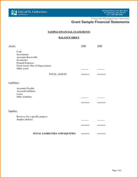 church balance sheet template church balance sheet sle and 12 sle financial