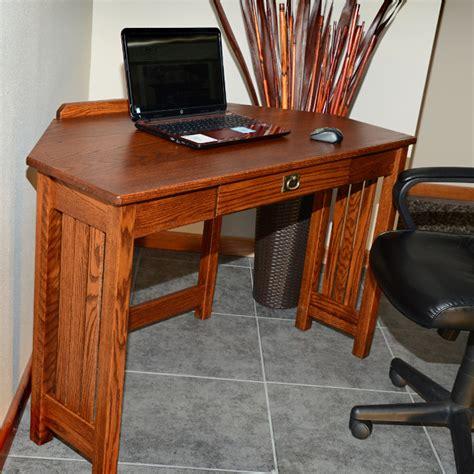 Mission Oak Corner Desk Mission Solid Oak Corner Computer Desk 47 Quot The Oak Furniture Shop