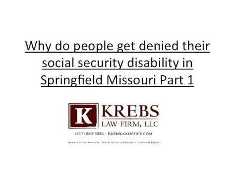 why do get denied their social security in