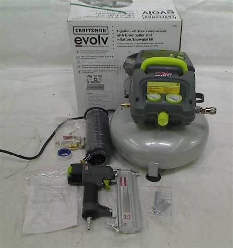 craftsman 3 gallon air compressor craftsman evolv 3 gallon pancake air compressor ebay