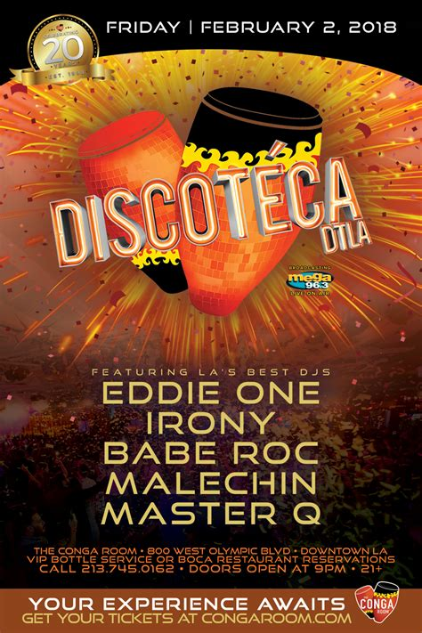 conga room guest list conga room presents discoteca dtla tickets conga room los angeles ca february 2 2018