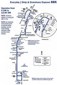 Las Vegas Deuce Map by Las Vegas Deuce Bus Route Images Frompo 1
