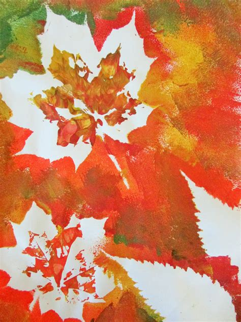 paint crafts for autumn leaf painting craft ideas for
