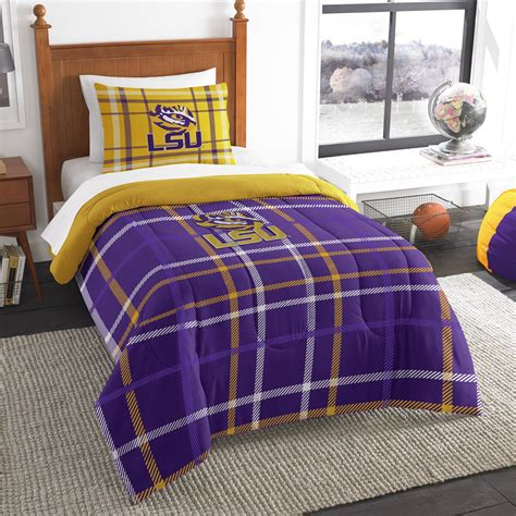 college comforter sets ncaa twin bedding set louisiana state university