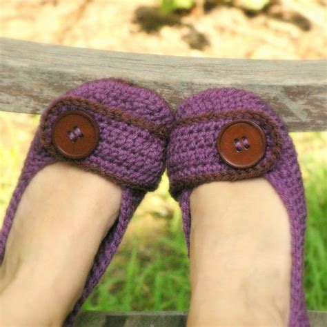 knitted house slippers pattern crochet pattern 205 womens house slipper by twogirlspatterns