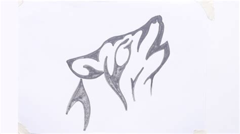 how to draw a wolf tattoo wolf tattoo step by step how to draw a wolf head tribal tattoo 3 youtube