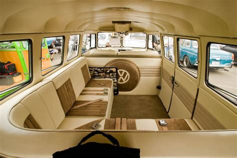 volkswagen kombi interior sweet custom vw bus interior just cool stuff pinterest