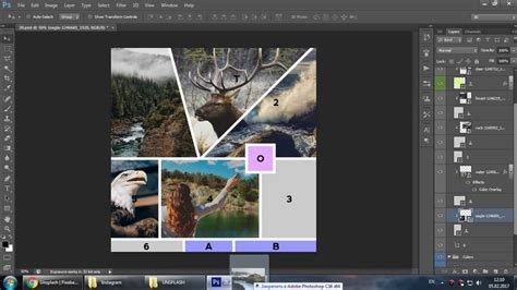 how to edit templates how to edit mood board template in adobe photoshop cs6