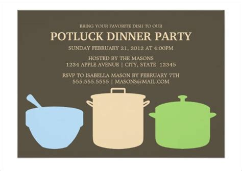 7 Potluck Party Invitations Designs Templates Free Premium Templates Potluck Invitation Template