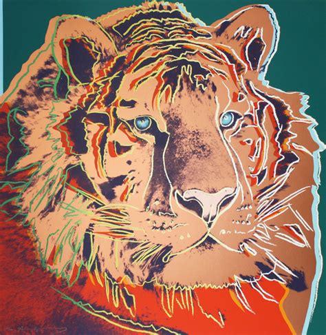warhol prints tiger by andy warhol hepner