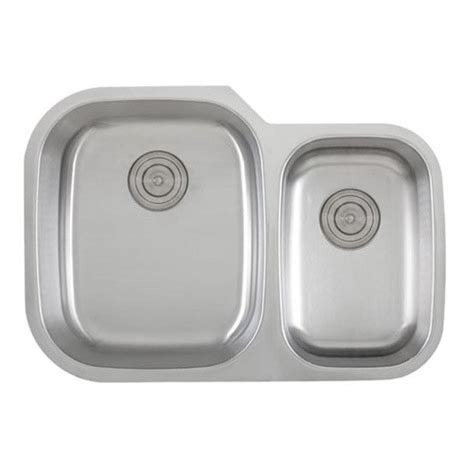 60 40 kitchen sink 30 inch 18 stainless steel undermount 60 40