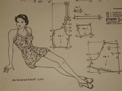 vintage pattern drafting diy vintage swimsuit free sewing pattern draft free