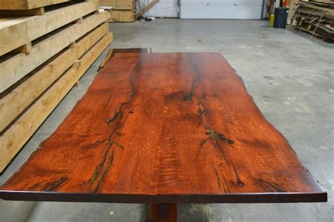 Unique Kitchen Island Ideas stained red oak table live edge corey morgan