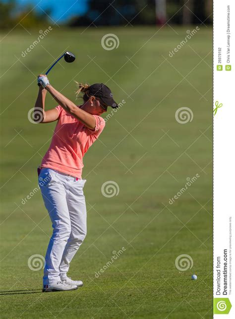 best swing ball golf girl top swing ball editorial photography image