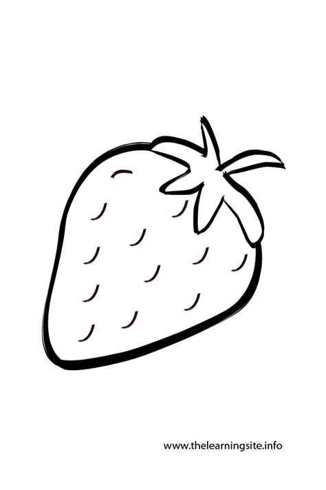 Strawberry Outline Drawing by Fruit Outlines For Coloring Coloring Pages