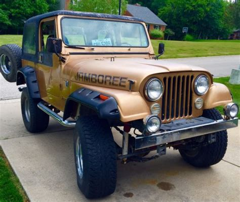 1982 jeep jamboree 1982 jeep cj7 limited edition jamboree 4 2l rust free
