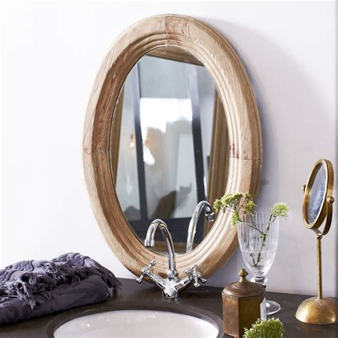 Oval Living Room Mirrors Oval Mirror With Solid Pine Frame 70x50cm Bathroom Living