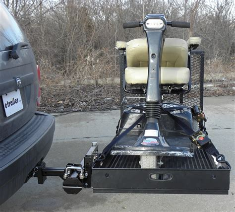 swing trailer hitch rage powersport swing away hitch mounted wheelchair and