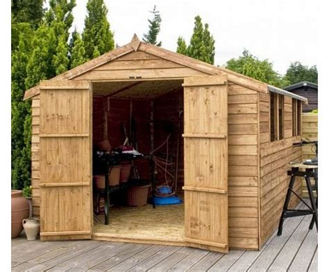 waltons 12ft x 8ft overlap apex wooden storage shed brand new 12x8 wood sheds review
