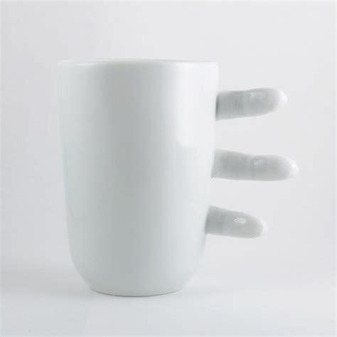 coffee cup no handle the finger coffee mug has no handle incredible things