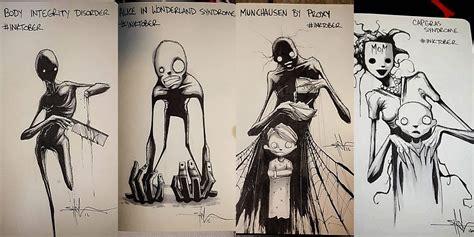 imagenes de emfermedades mentales los quot aterradores dibujos quot que retratan enfermedades