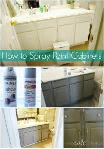 Spray Paint Kitchen Cabinets How To Spray Paint Cabinets Bathroom Makeover You Can Spray Paint Bathroom Cabinets Mind