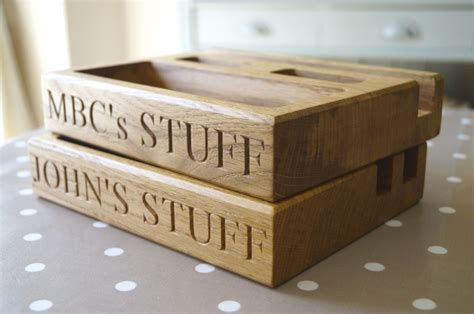 desk sets for him personalised oak gifts for him makemesomethingspecial