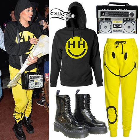 Jaket Hoodie Smile yellow smiley hoodie cardigan with buttons