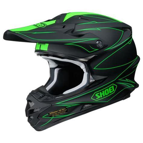 green motocross helmet shoei vfx w hectic helmet revzilla