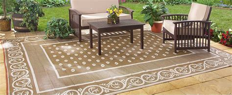 outside rugs patios indoor outdoor patio mat rv 9 x12 reversible cing picnic carpet deck rug pad ebay
