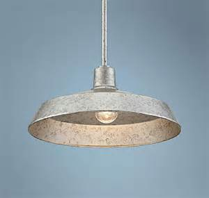 Galvanized Pendant Light Illuminating The Kitchen With Pendant Lighting Home Decorating Community Ls Plus