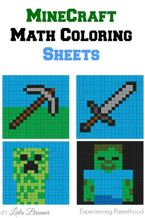 minecraft coloring pages math minecraft math coloring sheets experiencing parenthood