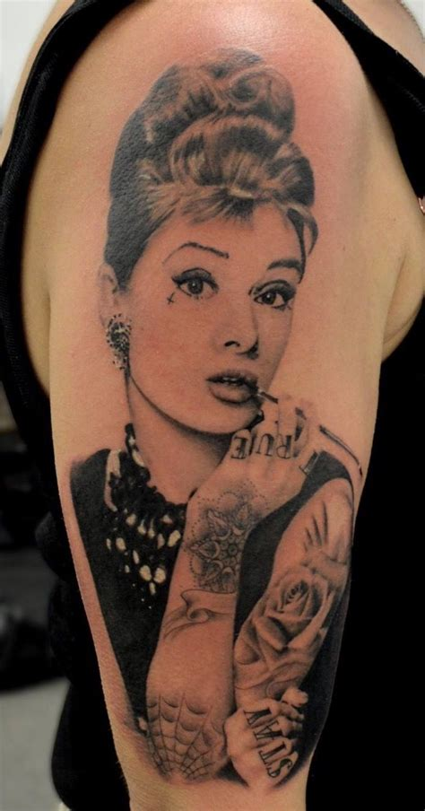 audrey hepburn with tattoos tattoo audrey hepburn