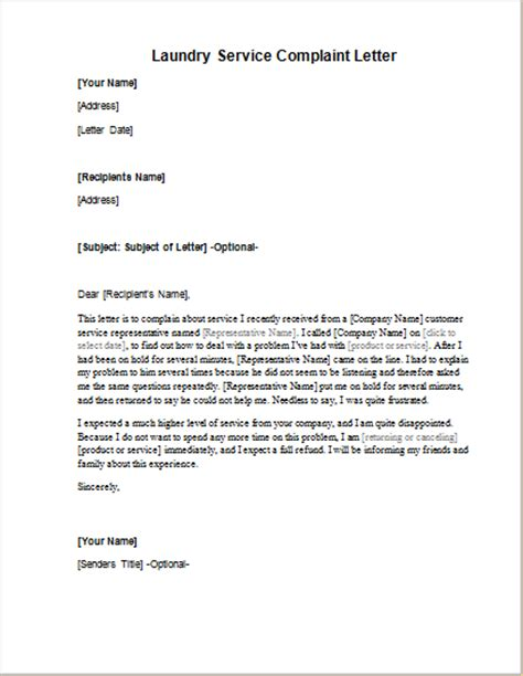 Complaint Letter About Bad Service With Exle File Complaint Letter Images