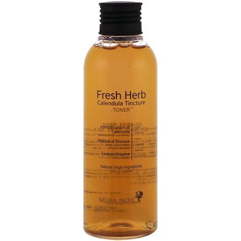 Pasific Fresh Herb Calentula Tincture Toner pacific fresh herb calendula tincture toner 6 76 fl oz 200 ml iherb