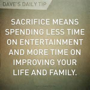 Dave ramsey daily tip sacrifice quotes pinterest