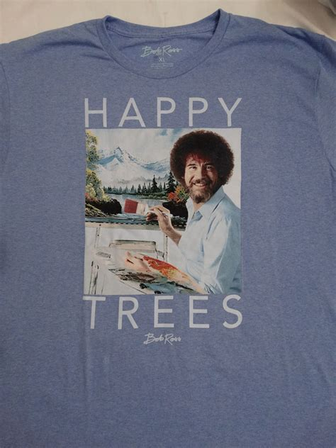 bob ross painting shirt bob ross artist happy trees of painting t shirt ebay