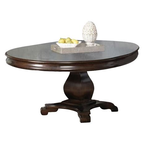 Cherry Dining Room Table And Chairs coaster harris single pedestal dining table in deep cherry