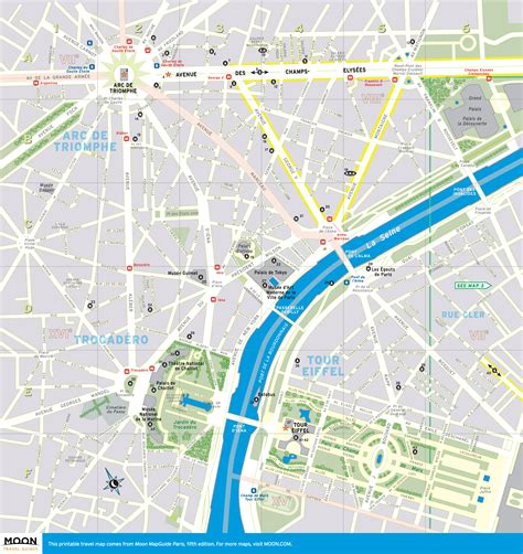 printable maps paris printable travel maps of paris france moon travel guides