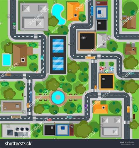 map design viewer map city top view design flat stock illustration 440929966