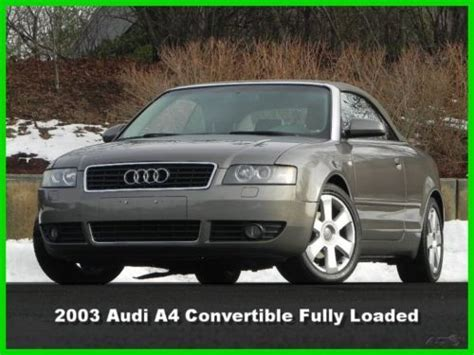 2003 audi a4 1 8 t gas mileage sell used 2003 audi a4 2 door convertible 1 8t turbo 1 8l