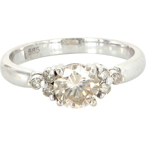 Engagement Right by Vintage 14 Karat White Gold Engagement Right