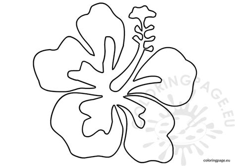 Luau Flower Template Coloring Page Hawaiian Flower Template
