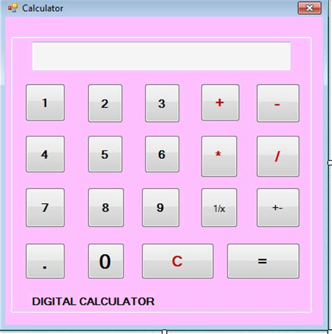 calculator using html source code web zone simple calculator using visual basic