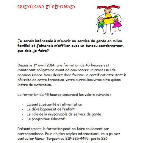 Lettre De Présentation Garderie Bureau Coordonnateur Vall 233 E Des Loupiots Accueil