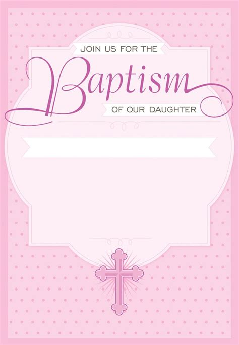 templates for christening invitations free dotted pink free printable baptism christening