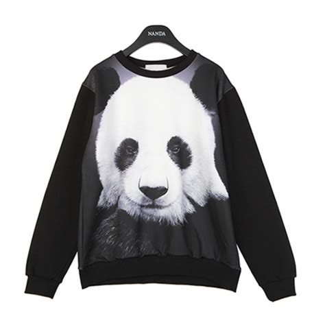 Sweater Panda To sweater shirt panda black pandas chic cool