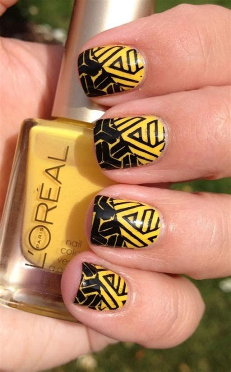 new year nail design 2015 happy new year black and yellow nail designs 2015 wpjournals