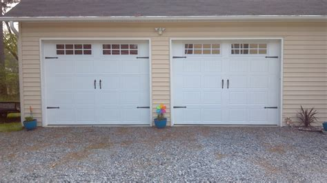 two door garage 2 single garage doors with hardware 2 pineville nc a